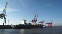 Hamburg habor Stock Footage