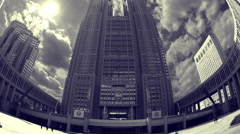 Tokyo japan city government skyscrapers skyline metropolitan office Stock Footage
