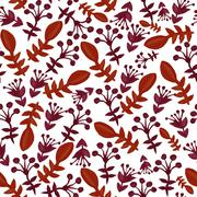 Stock Illustration of seamless pattern with decorative flowers, for invitations, cards, scrapbooking