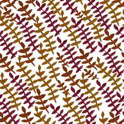seamless pattern with decorative leaves, for invitations, cards, scrapbooking - stock illustration