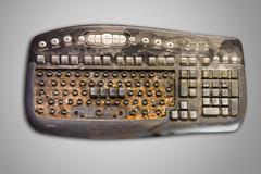 Dirty computer keyboard Stock Photos