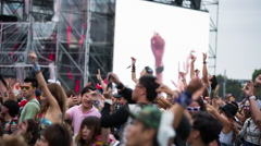 Crowds japan event entertainment stage music dj Stock Footage