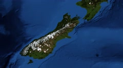 New Zealand from space Stock Footage