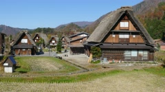 The Historic Villages of Shirakawa-gand Gokayama Stock Footage