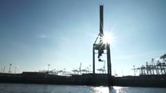Habor cranes Stock Footage