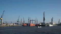 Docks Hamburg Habor Stock Footage
