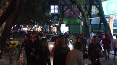 Shenzhen xixiang street night market landscape, in China Stock Footage