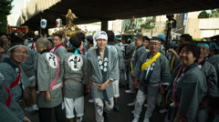 Japan religious tokyo people street tradition Stock Footage