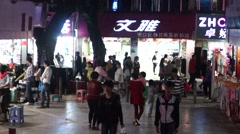 Shenzhen xixiang street night market landscape, in China Stock Footage