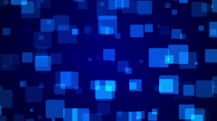 4k, blue background, particle square, loop Stock Footage
