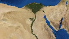 Nile river North Africa from space Stock Footage