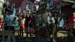 Teen teenager takeshita street fashion shopping tokyo Stock Footage
