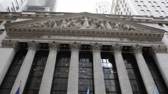 New York City Stock Exchange World Market Economy Symbol American Sight Building - stock footage