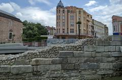Plovdiv town in preparation of European Capital of Culture in 2019. - stock photo