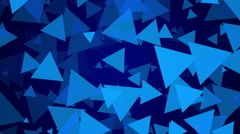 4k, blue background, particle triangle, loop - stock footage