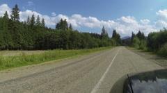 car goes on road among  wood and mountains. Ukrainian Carpathians  Stock Footage