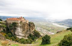 Meteora monasteries, Greece Stock Photos