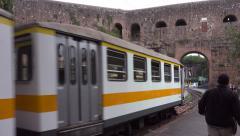 Trams arrive, Rome, Porta Maggiore Stock Footage