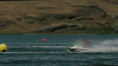 Jet skis crossing - stock footage