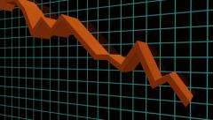 3D Line Graph Stock Footage