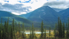 Bow Valley Parkway Stock Footage