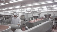 Sausage production Stock Footage