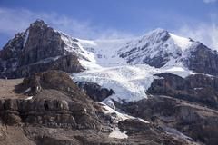 ice fall on mount andromeda - stock photo