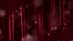 Christmas Background with Snow Flakes - stock footage