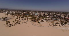 Aerial Shot of Santa Monica and Venice beach, Los Angeles California Stock Footage
