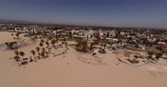 Aerial Shot of Santa Monica and Venice beach, Los Angeles California Stock Footage