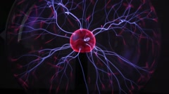 Electric ball with plasma Stock Footage