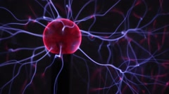 Electric ball with plasma. - stock footage