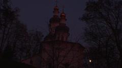 Ukraine, the ancient Orthodox Church Stock Footage