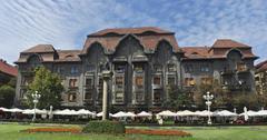 timisoara revolution square architecture - stock photo