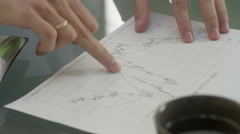People hands on table discussion and planning for business development Stock Footage