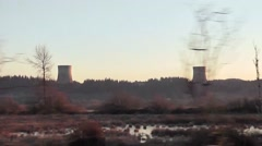 Washington Public Power Supply System Towers Stock Footage