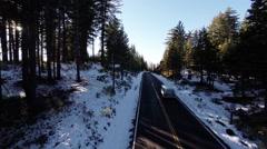 Aerial.  Yosemite National Park, California Stock Footage