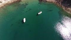 Santa Cruz island, Potato Harbor. Pacific Ocean. California. Stock Footage