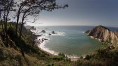 Stock Video Footage of timelapse playa del silencio asturias spain beach hidden coast ocean sea