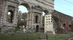 Baker's Tomb, Porta Maggiore, Rome Stock Footage