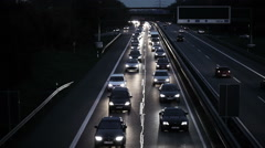 Traffic jam on highway A 66 Stock Footage