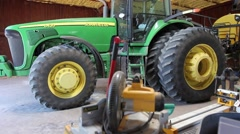 Tractor and sprayer - stock footage
