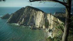 Stock Video Footage of playa del silencio asturias spain beach hidden coast ocean sea