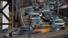 New York City Queensboro Bridge Traffic Timelapse 4c Stock Footage