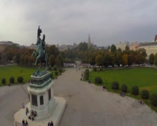 Heldenplatz of Hofburg Palace in Vienna, president of Austria, click for HD Stock Footage