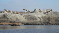 Working quarry in eastern Ukraine Stock Footage