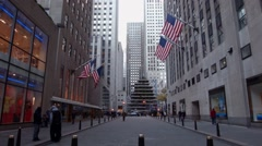 Rockefeller Center Christmas Tree In New York City Under Construction Stock Footage