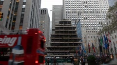 Time Lapse Rockefeller Center Christmas Tree In New York City - stock footage