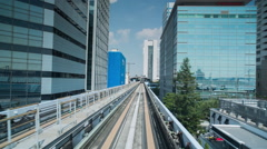 Tokyo japan city future skyscrapers train monorail travel Stock Footage