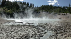 Mud Caldron hot spring in Yellowstone Stock Footage